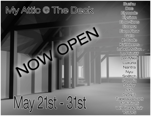 My Attic - May 2015 NOW OPEN