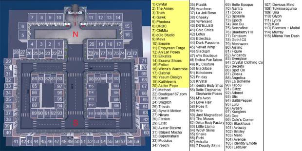 Vintage Fair - Sim Map for Inworld