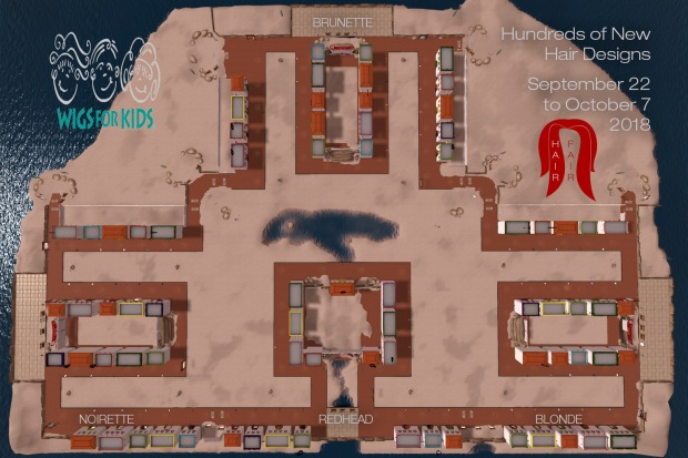 Hair Fair 2018 Map